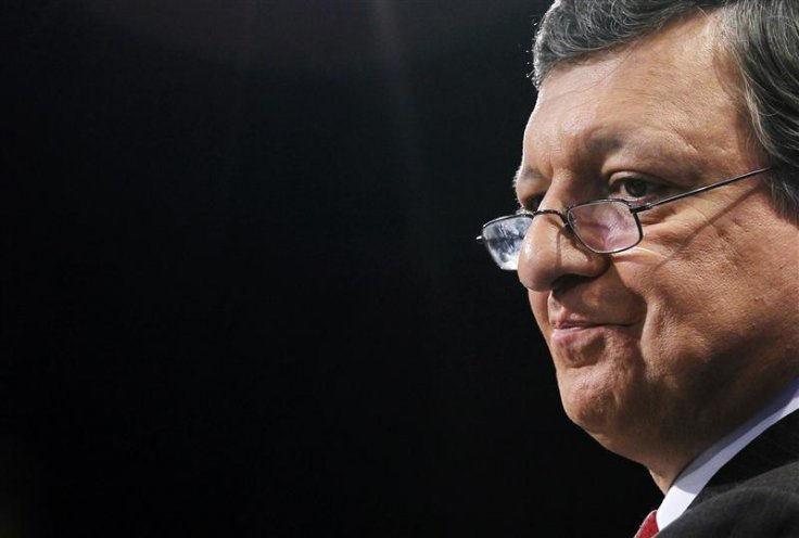 EU Commission President Barroso holds a news conference on new economic governance in Brussels