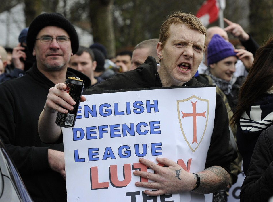 EDL supporter Luton