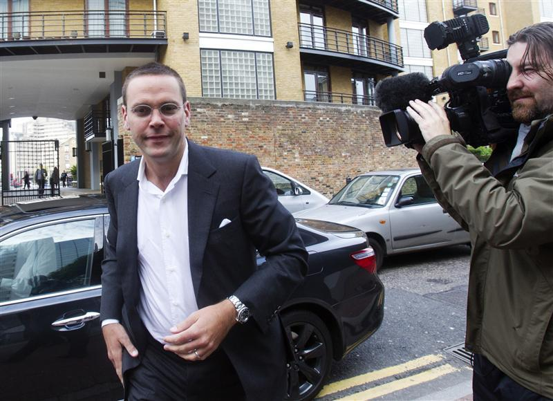 News International Chairman James Murdoch arrives at News International in London