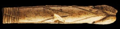 Sculpture of a tattooed penis Palaeolithic age
