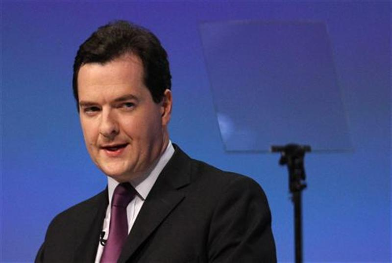 Britain's Chancellor of the Exchequer George Osborne delivers his keynote speech on the second day of the Conservative Party Conference in Manchester
