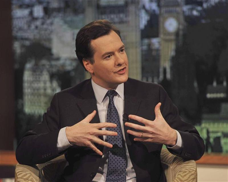 Chancellor George Osborne speaks on the BBC's Andrew Marr Show in London