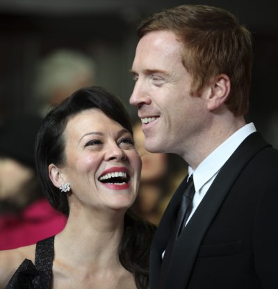Actors Helen McCrory and Damien Lewis arrive at The Royal Premiere of Hugo at the Odeon Leicester Square cinema in London