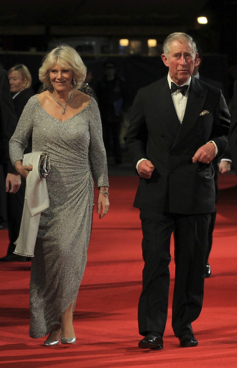 Britains Prince Charles and his wife Camilla, Duchess of Cornwall, arrive at The Royal Premiere of director Martin Scorseses film Hugo at the Odeon Leicester Square cinema in London