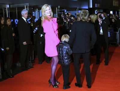 Rod Stewart and Penny Lancaster arrive at The Royal Premiere of Martin Scorseses film Hugo at the Odeon Leicester Square cinema in London