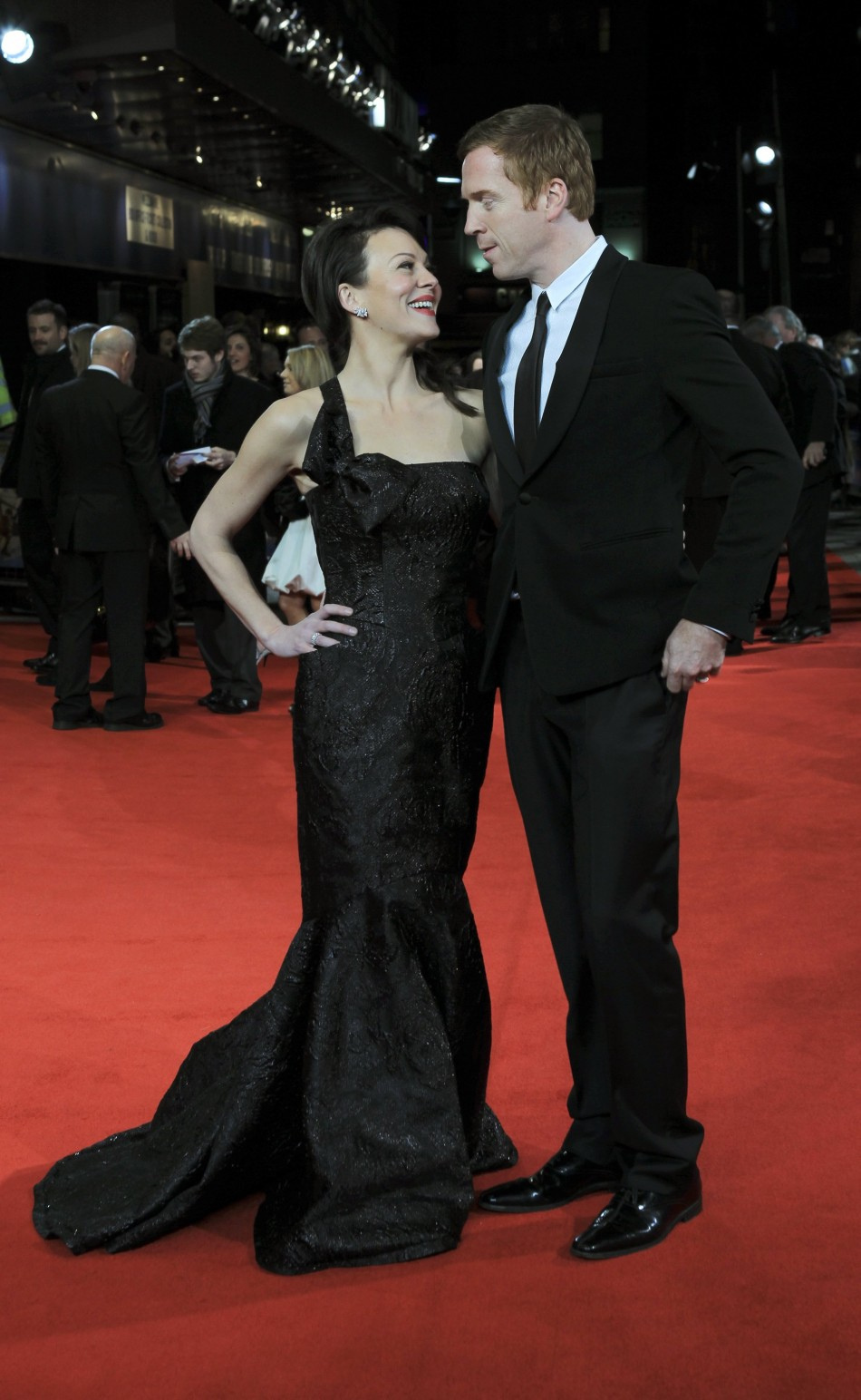 Actors Helen McCrory and Damien Lewis arrive at The Royal Premiere of director Martin Scorseses film Hugo at the Odeon Leicester Square cinema in London