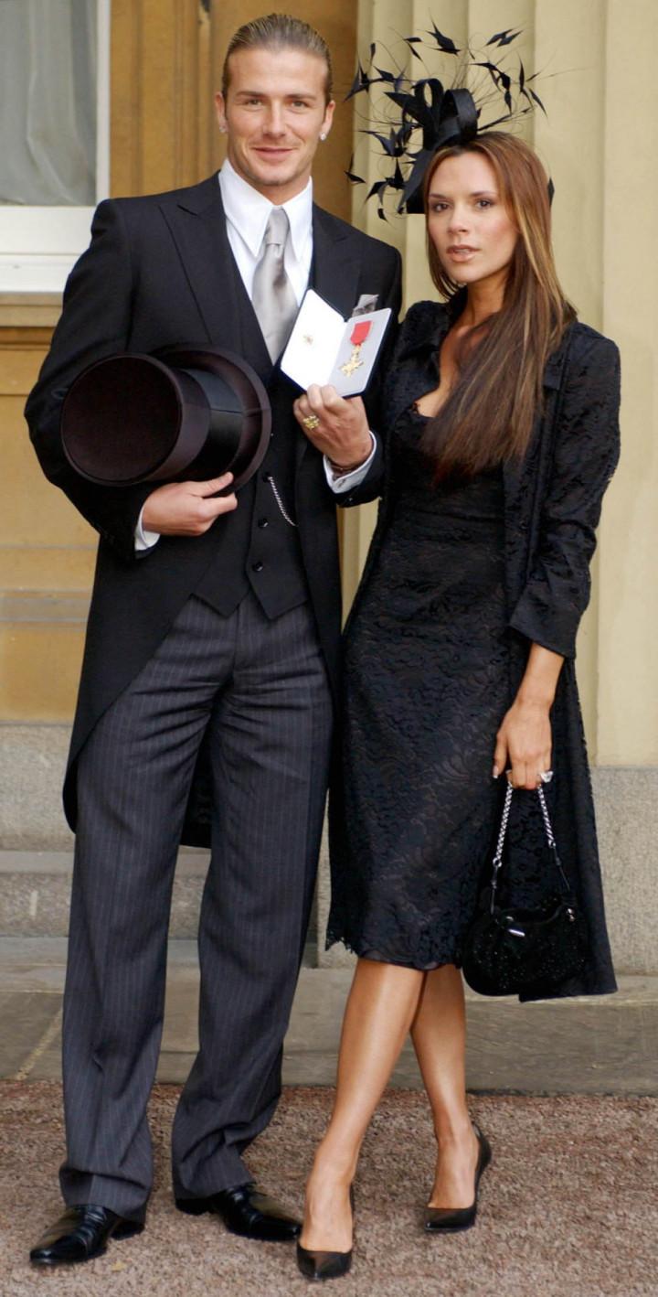 The Beckhams at the Palace