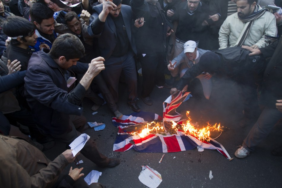 Protesters Storm British Embassy in Iran