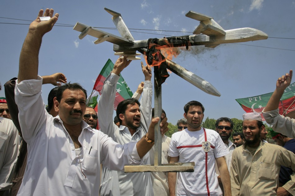 Pakistanis protest against NATO drone attacks