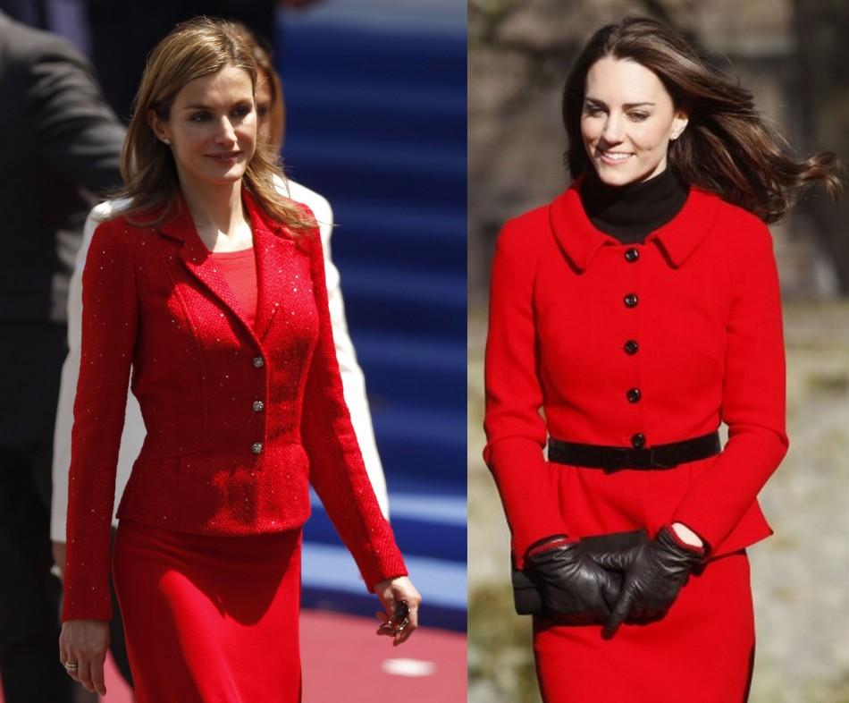 Royals in Red: Princess Letizia vs. Catherine Middleton