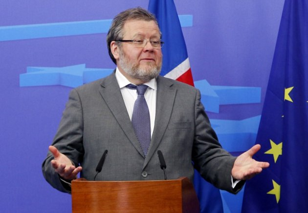 Ossur Skarphedinsson, Iceland's minister for foreign affairs