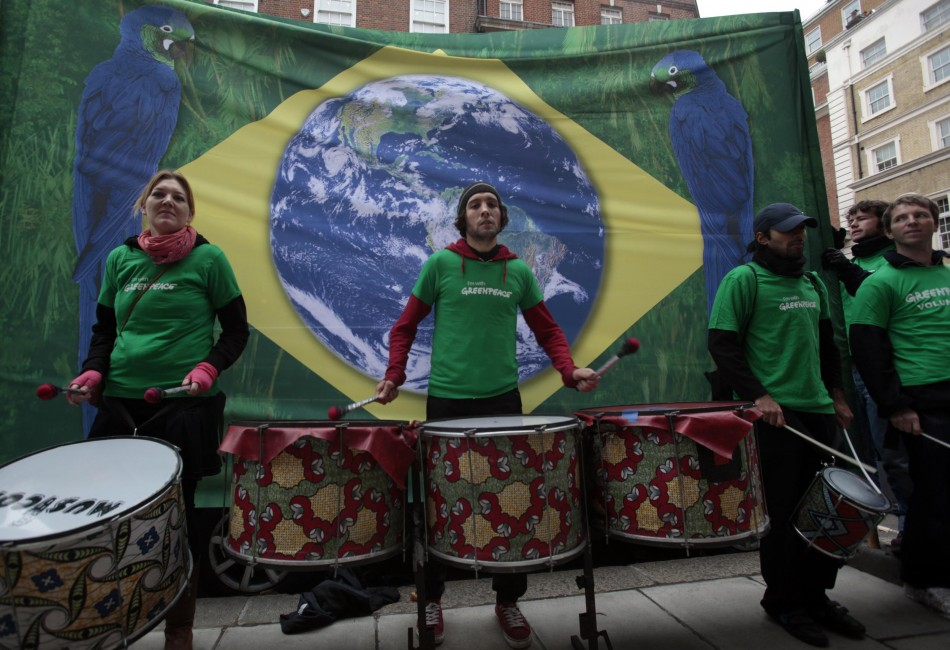 Greenpeace march to save the Amazon