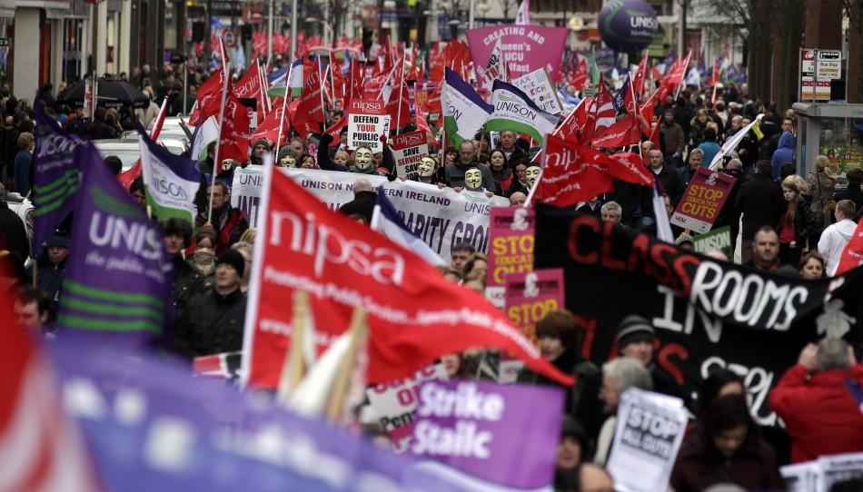 Belfast strike march