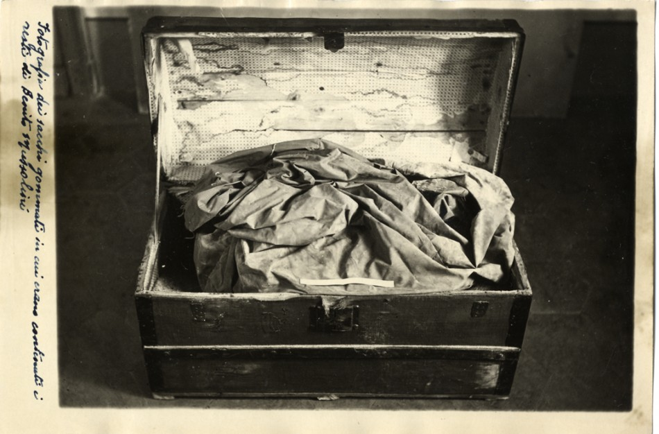 The box which contained Mussolini's corpse