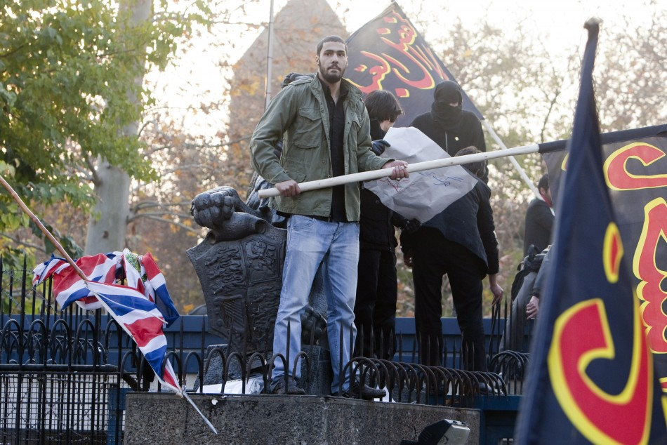 Iranian protesters storm British embassy