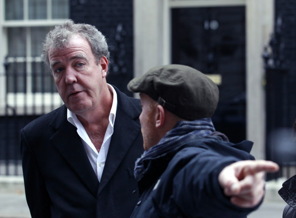 jeremy clarkson faces placards of dead trade unionists at top gear set. Black Bedroom Furniture Sets. Home Design Ideas