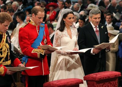 The Trio Together at the Royal Wedding