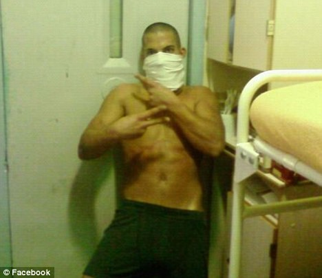 A convicted thief who's serving an 18-month sentence at Camp Hill Prison on the Isle of Wight uploaded pictures of him in his cell and publicly complained about the Wi-Fi.