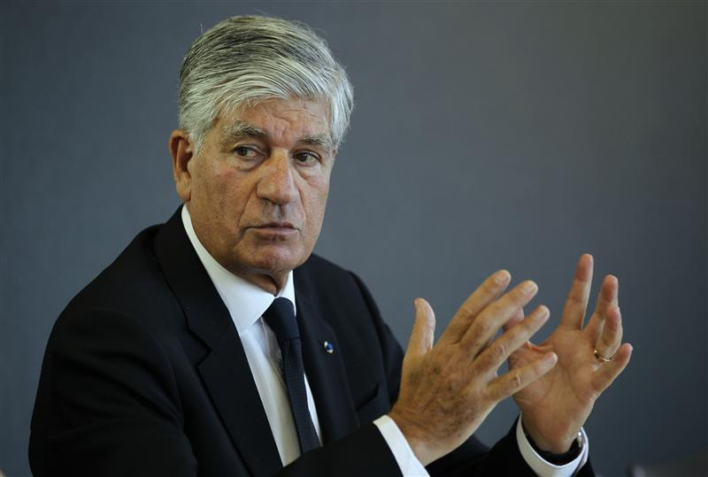 French advertising group Publicis Chief executive Maurice Levy.