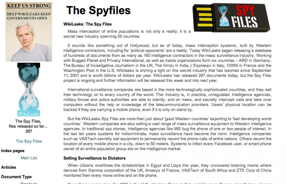 Wikileaks Spy Files
