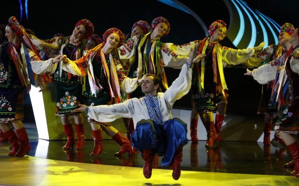 Dancers at EURO 2012 draw