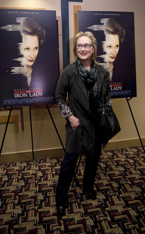 Meryl Streep at the Washginton Premiere of 'The Iron Lady'