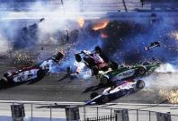 15-Car Crash at the Las Vegas Motor Speedway