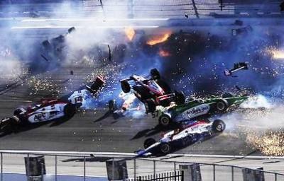 15-Car Crash at the Las Vegas Motor Speedway
