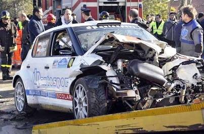 Injury at the Ronde de Andorra Rally
