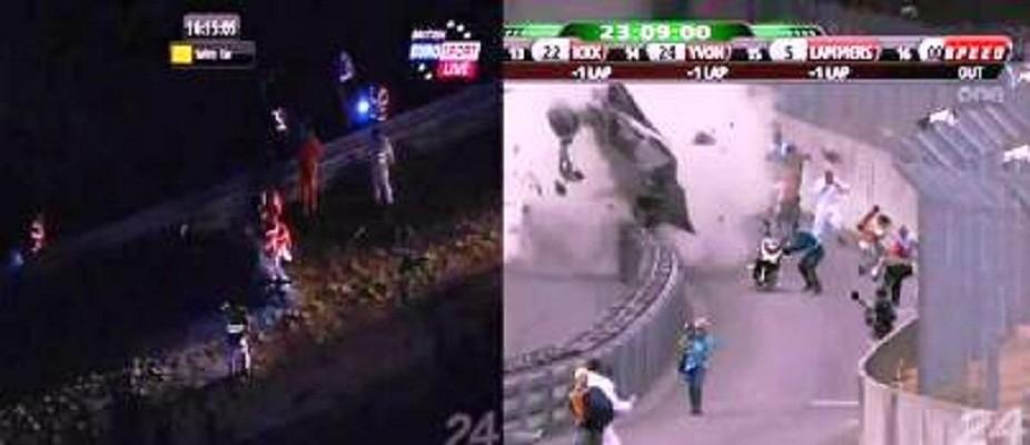 Double Crash at Le Mans 2011