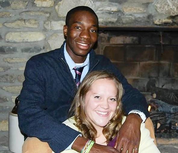 Stella Harville and her Zimbabwean boyfriend Ticha Chikuni