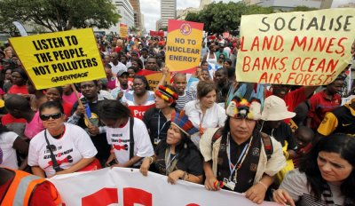 Protest at Climate Change Conference in Durban, South Africa
