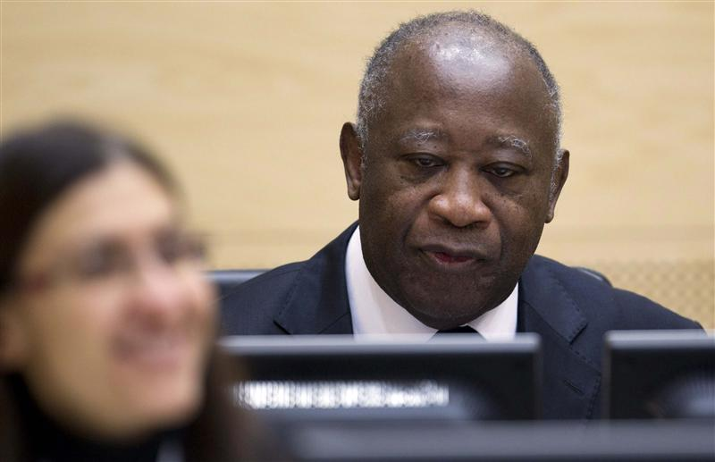 Former Ivory Coast President Gbagbo waits for the judges to arrive at the ICC in The Hague