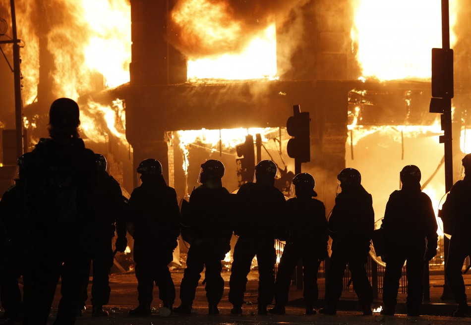 English riots in August