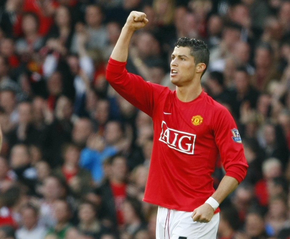Ronaldo during his Manchester United days