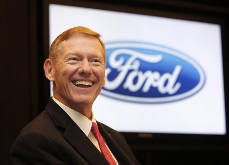 Ford Motor Co President and CEO Alan Mulally smiles during an interview in Bangkok