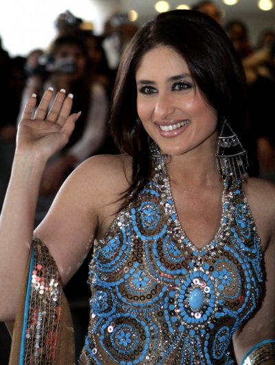 Indian Bollywood actress Kareena Kapoor arrives for the IIFA awards at the Arena Stadium in ...