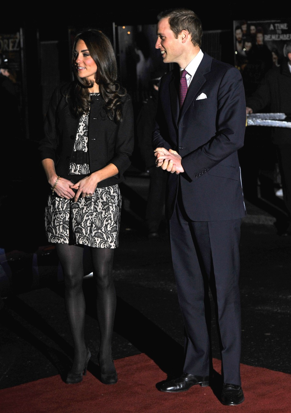 Prince William and Katherine at the Royal Albert Hall