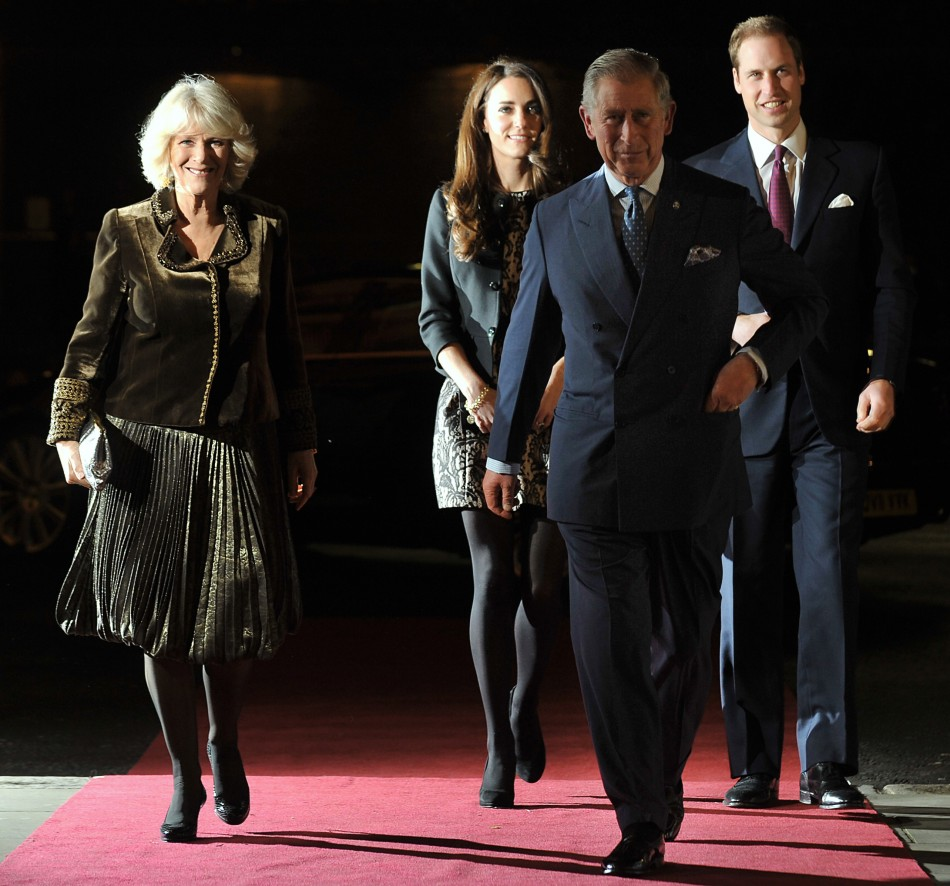 The Royals Arrive at the Royal Albert Hall