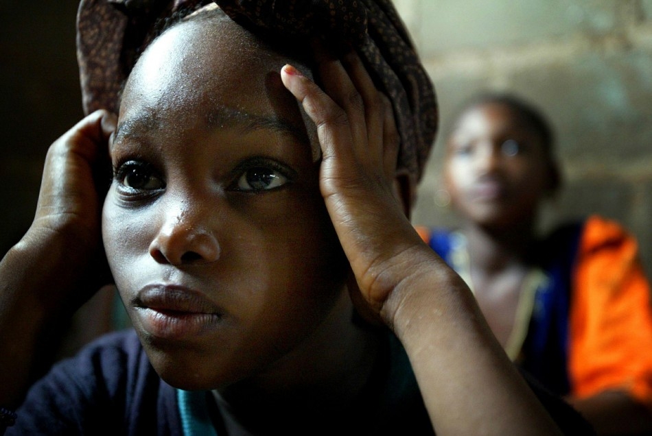 A Malian schoolgirl