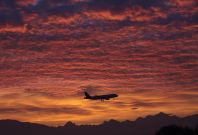 Airline Sunset