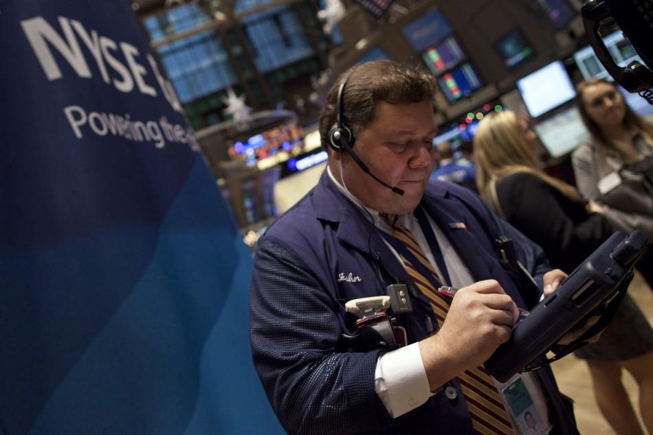 A trader at the NYSE