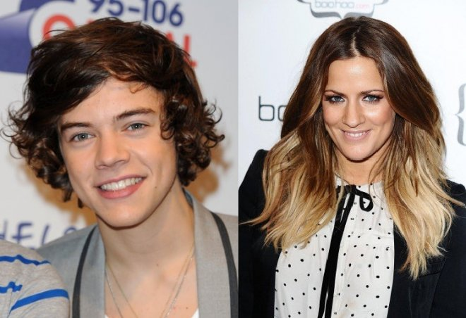 Harry Styles and Caroline Flack