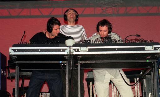 Underworld Band performing at Glastonbury Festival 1999