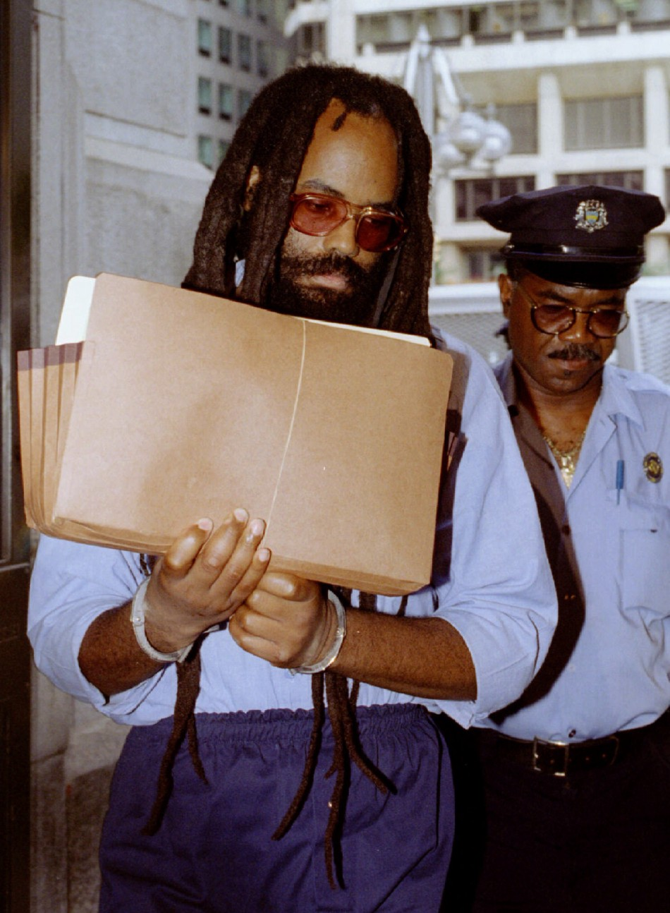 Mumia Abu-Jamal, convicted of slaying a Philadelphia policeman in 1981