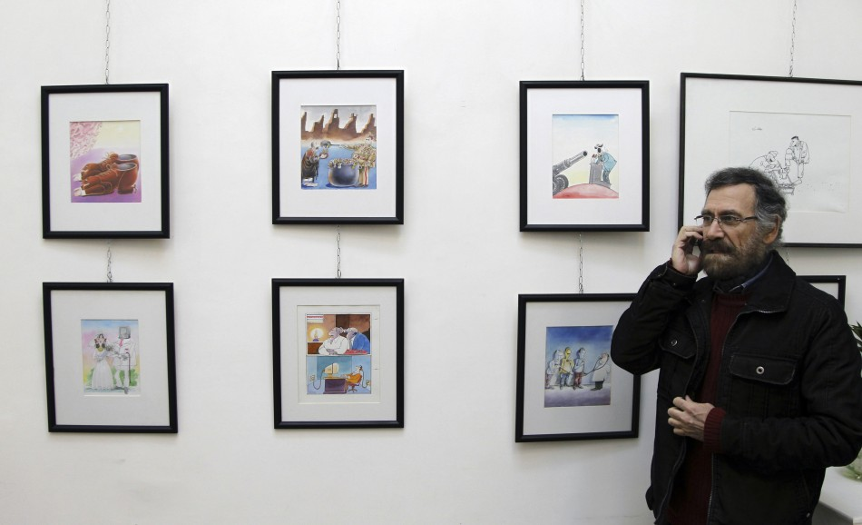 Syrian cartoonist Ferzat