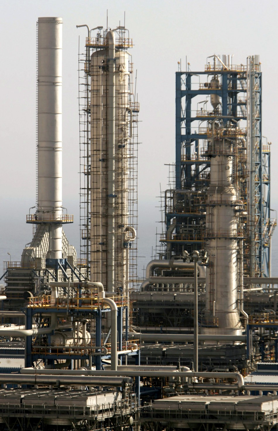 View of petrochemical complex in seaport of Assaluyeh on Iran's Persian Gulf coast