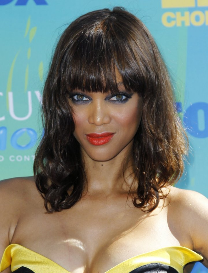 Model Tyra Banks arrives at the Teen Choice Awards in Los Angeles