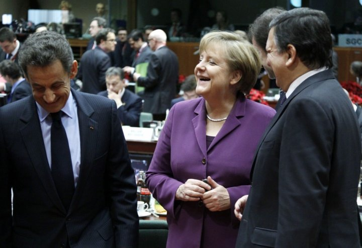 Merkel, Sarkozy and Barrosso.