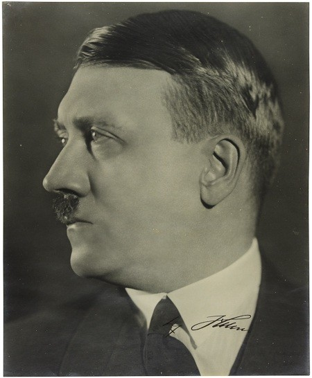 A rare and unusual S.P. 9quot x 11quot black and white bust profile photograph by Heinrich Hoffmann. Sold for 3,500